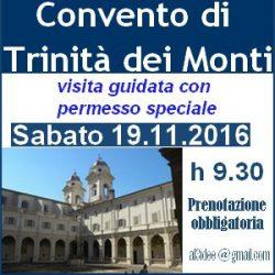 Convento di Trinità dei Monti - Visita Guidata - 19.11.2016