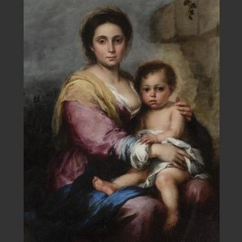 Dipinto Madonna del Latte